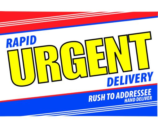 6 x 9 Booklet Express Rapid Urgent Delivery