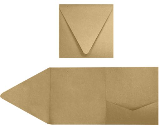 6 x 6 Pocket Invitations 18pt. Grocery Bag