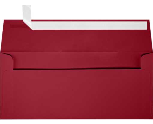 Slimline Invitation Envelopes (3 7/8 x 8 7/8) Garnet