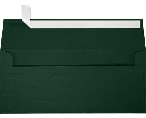 Slimline Invitation Envelopes (3 7/8 x 8 7/8) Green Linen