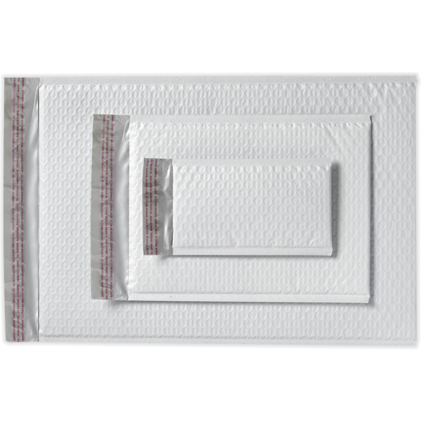 6 x 9 1/4 AirJacket Mailers White Bubble