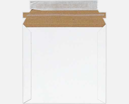 6 x 6 Paperboard Mailers White Paperboard