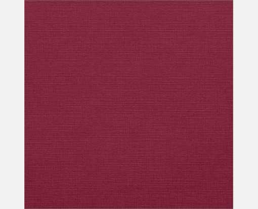 7 3/4 x 7 3/4 Square Flat Card Burgundy Linen
