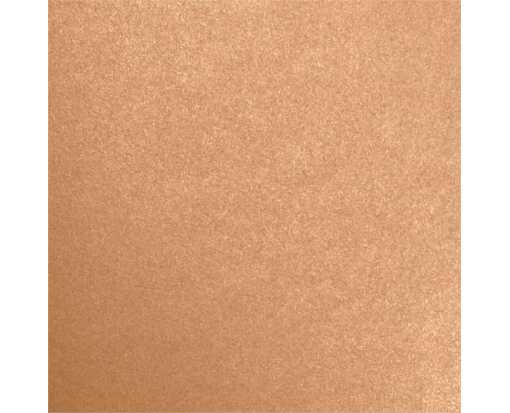 7 3/4 x 7 3/4 Square Flat Card Copper Metallic