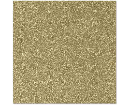 7 3/4 x 7 3/4 Square Flat Card Gold Sparkle