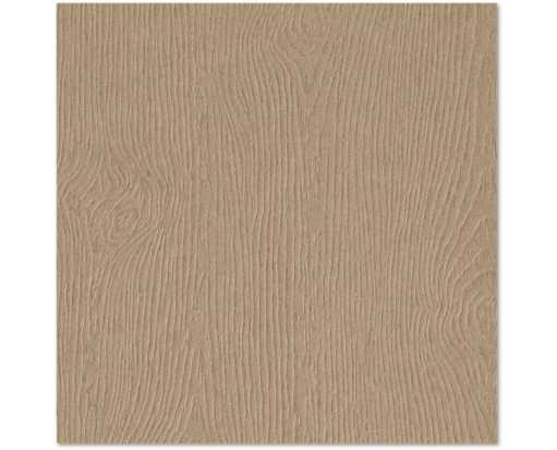 7 3/4 x 7 3/4 Square Flat Card Oak Woodgrain