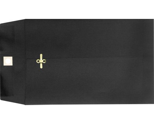 9 x 12 Clasp Envelopes Midnight Black