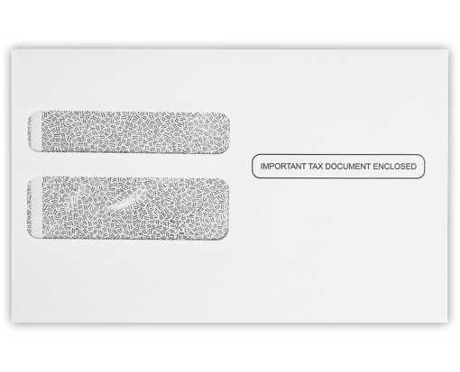 W-2 / 1099 Envelopes (5 3/4 x 9 1/4) 24lb. White w/ Security Tint