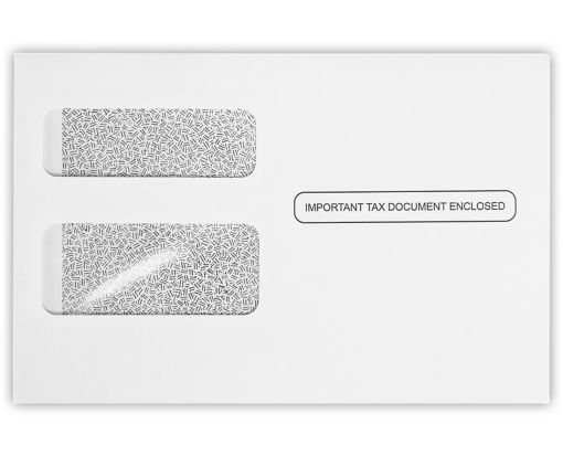 W-2 / 1099 Envelopes (5 3/4 x 8 7/8) 24lb. White w/ Security Tint