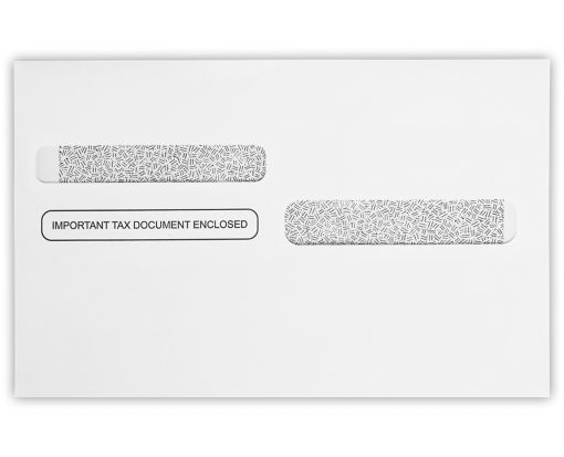W-2 / 1099 Envelopes (5 5/8 x 9) 24lb. White w/ Security Tint