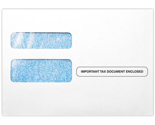 W-2 / 1099 Envelopes (5 3/4 x 8) - Important Tax Document Enclosed 24lb. White - Tax