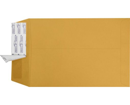 6 1/2 x 9 1/2 Open End Envelopes Brown Kraft w/ Peel & Seel®