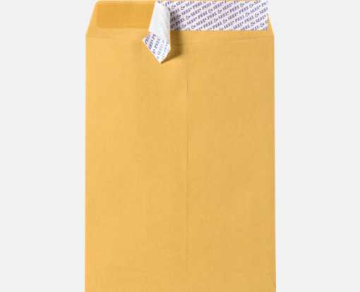 9 1/2 x 12 1/2 Open End Envelopes Brown Kraft w/ Peel & Seel®