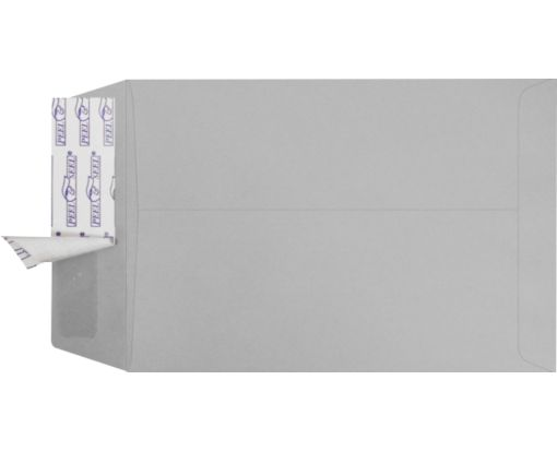 6 1/2 x 9 1/2 Open End Envelopes Gray Kraft w/ Peel & Seel®