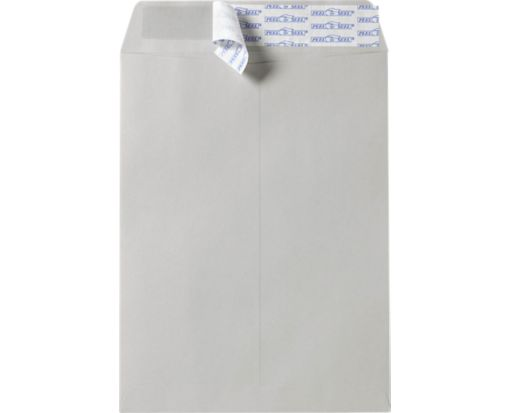 9 1/2 x 12 1/2 Open End Envelopes Gray Kraft w/ Peel & Seel®