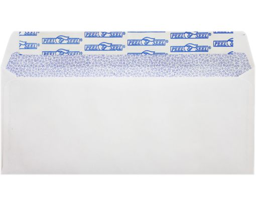#10 Regular Envelopes (4 1/8 x 9 1/2) 24lb. White w/ Sec Tint, P&S