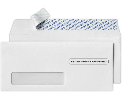 #10 Window Envelopes (4 1/8 x 9 1/2) - Return Service Requested 24lb. Bright White - Return