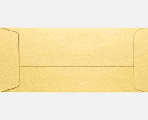 #10 Open End Envelopes (4 1/8 x 9 1/2) Gold Metallic