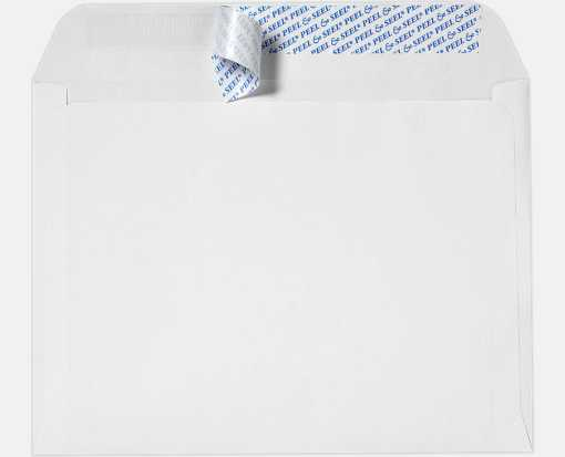 10 x 13 Booklet Envelopes 28lb. White w/ Peel & Seel®