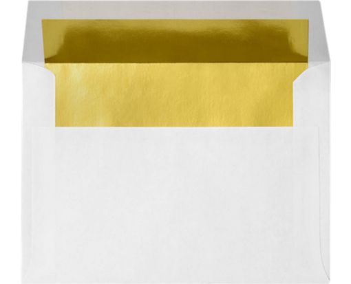 A2 Envelopes (4 3/8 x 5 3/4) Gold Foil Lining