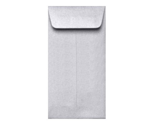 #7 Coin Envelopes (3 1/2 x 6 1/2) Silver Metallic