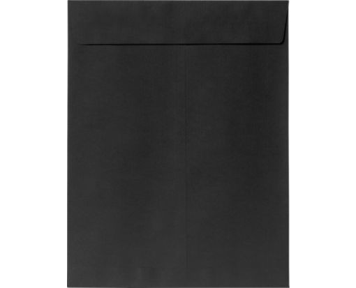 9 x 12 Open End Envelopes Midnight Black
