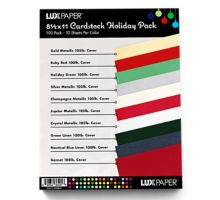 8 1/2 x 11 Cardstock - Holiday Pack of 100