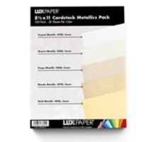 8 1/2 x 11 Cardstock - Metallics Pack of 100