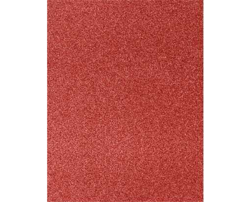 8 1/2 x 11 Cardstock Holiday Red Sparkle