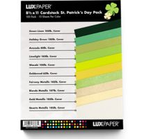 8 1/2 x 11 Cardstock - St. Patrick's Day Pack of 100