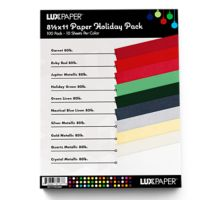 8 1/2 x 11 Pack - Holiday Pack of 100 (10 of each color)