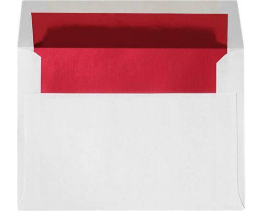 A6 Envelopes (4 3/4 x 6 1/2) Red Foil Lining