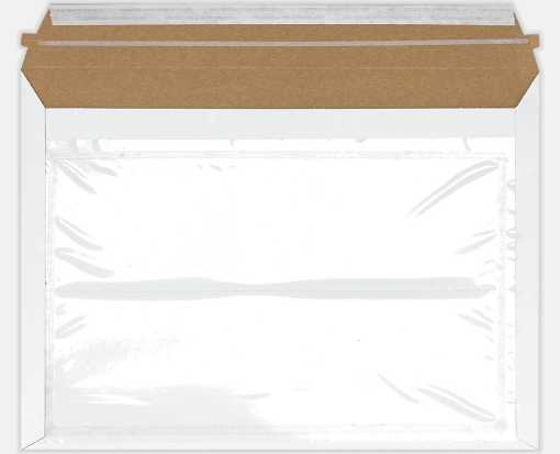 9 1/2 x 12 1/2 Paperboard Mailer w/Pouch Envelopes White Paperboard