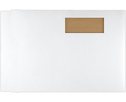 9 1/2 x 12 1/2 Window Paperboard Mailers White