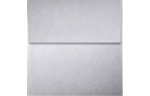4 x 4 Square Envelopes Silver Metallic