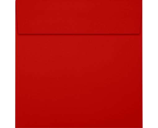 5 x 5 Square Envelopes Holiday Red