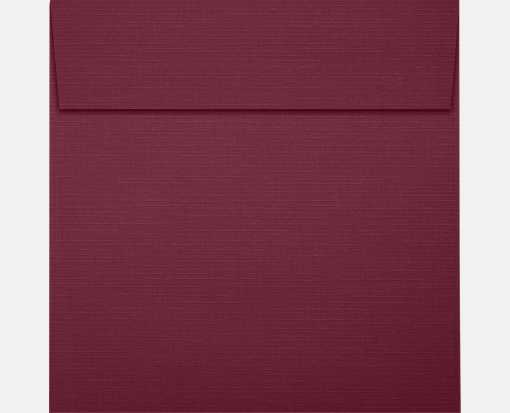 5 1/4 x 5 1/4 Square Envelopes Burgundy Linen