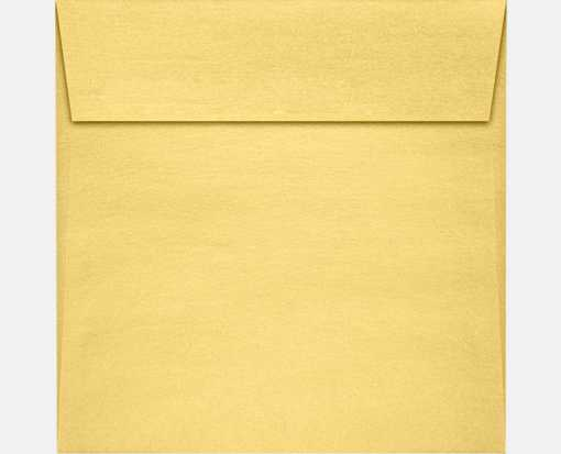 5 1/2 x 5 1/2 Square Envelopes Gold Metallic