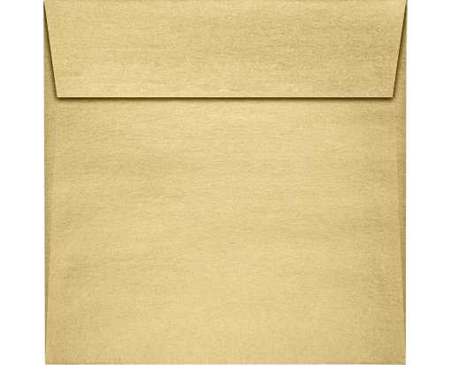 6 x 6 Square Envelopes Blonde Metallic