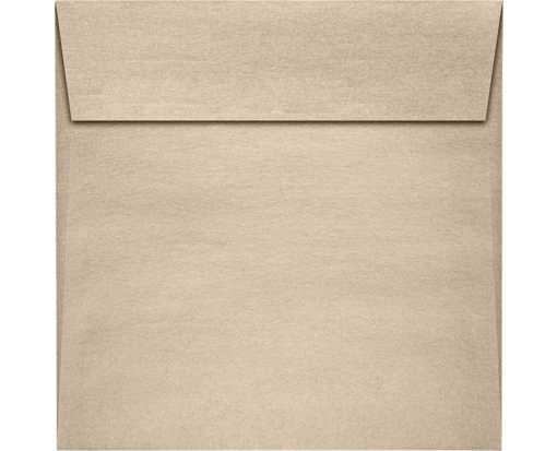 6 x 6 Square Envelopes Taupe Metallic