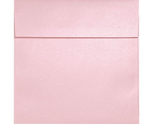 6 1/2 x 6 1/2 Square Envelopes Rose Quartz Metallic