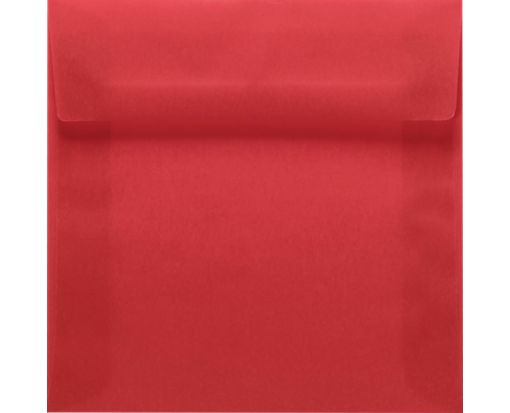 6 1/2 x 6 1/2 Square Envelopes Red Translucent