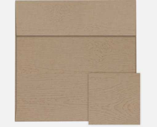 6 1/2 x 6 1/2 Square Envelopes Oak Woodgrain