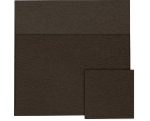 6 1/2 x 6 1/2 Square Envelopes Teak Woodgrain