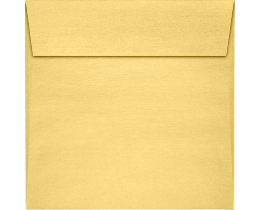7 x 7 Square Envelopes Gold Metallic