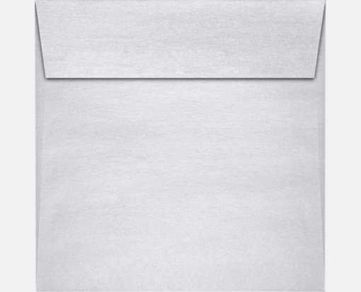 8 x 8 Square Envelopes Silver Metallic