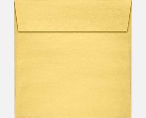 8 x 8 Square Envelopes Gold Metallic