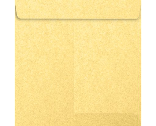 9 x 9 Square Envelopes Gold Metallic