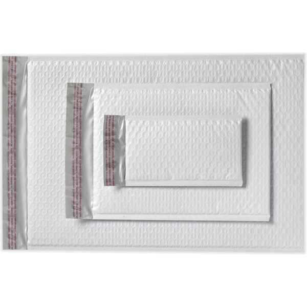 9 1/2 x 13 3/4 AirJacket Mailers White Bubble
