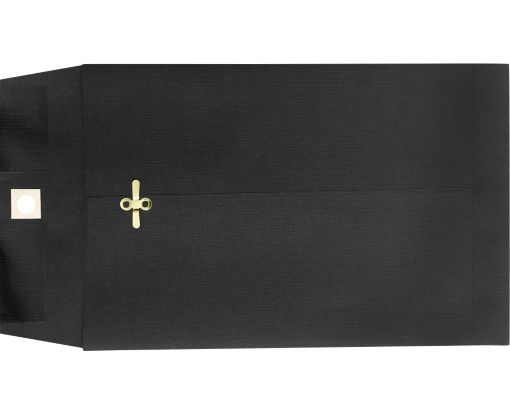 10 x 13 Clasp Envelopes Midnight Black